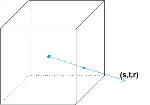 текстурные координаты (s, t, r)