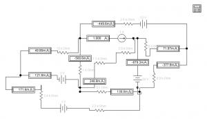 Электрическая схема в Electronics Workbench 5.12
