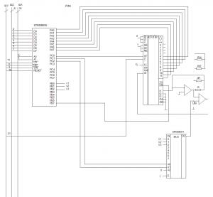 Схема подсистемы ввода информации КР590КН1 К572ПВ1 КП580ВВ55