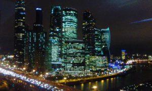 Москва-Сити ночью