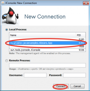 new jmx connection