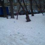 Снег. Москва.
