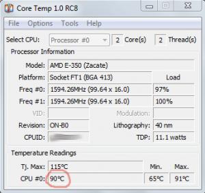 Перегрев процессора ноутбука 90 градусов