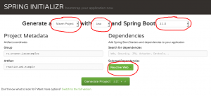 Spring Initializr Reactive Web