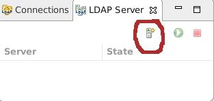 Apache Directory Studio. New LDAP Server