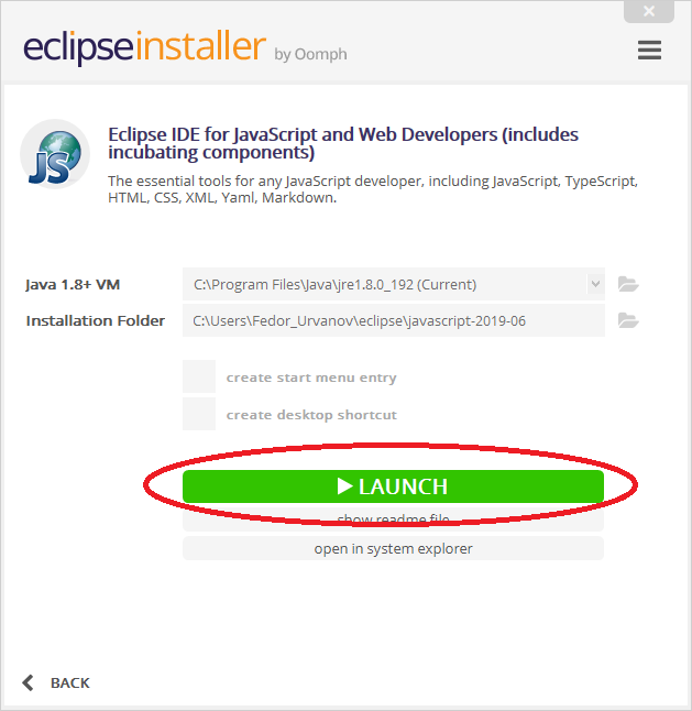 Eclipse JavaScript launch