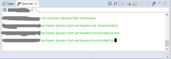 Eclipse JavaScript tsc