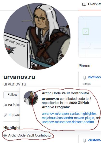 Arctic Code Vault COntributor