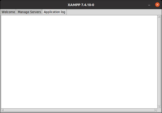 XAMPP 7.4.10-0 Application log