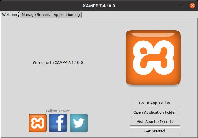 XAMPP 7.4.10-0 Welcome Page