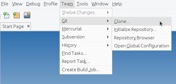 NetBeans Teams Git Clone